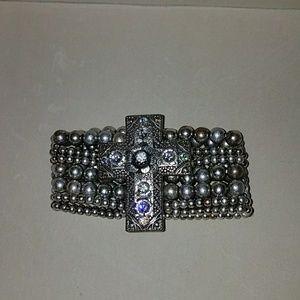 Jewelry - Rocker/gothic cross bracelet